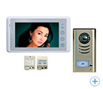 2-vadu video domofons ar 7-collas video monitoru VIDEO-TECH DT27white+DT591
